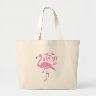 Bolsa Tote Grande Senhora louca do flamingo