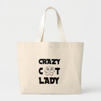 Bolsa Tote Grande senhora louca do gato