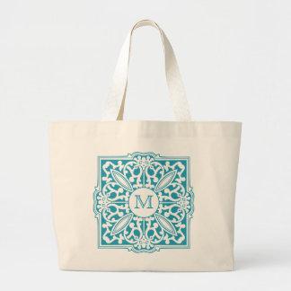 Bolsa Tote Grande SEU MONOGRAMA em umas sacolas decorativas do