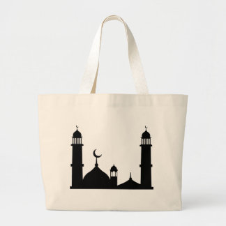 Bolsa Tote Grande Silhueta da mesquita