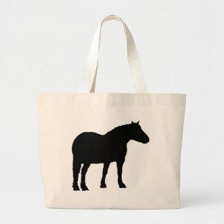 Bolsa Tote Grande Silhueta do cavalo