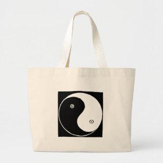 Bolsa Tote Grande Símbolo de Yin Yang do chinês