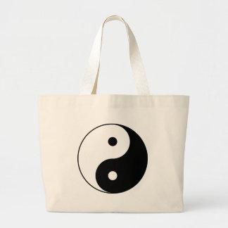 Bolsa Tote Grande Símbolo filosófico inspirador de Yin e de Yang
