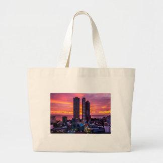 Bolsa Tote Grande Skyline de Manila Filipinas