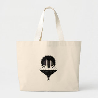 Bolsa Tote Grande Skyline do piano