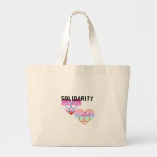 Bolsa Tote Grande Solidariedade alegre lésbica