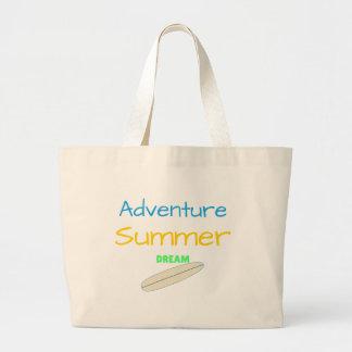 Bolsa Tote Grande Sonho do verão da aventura