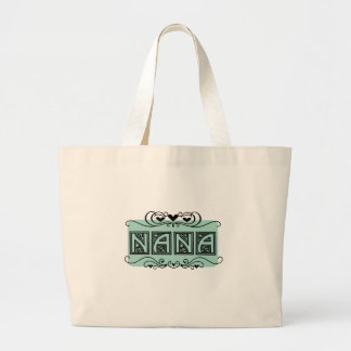Bolsa Tote Grande T-shirt e presentes de Nana da placa de identifica