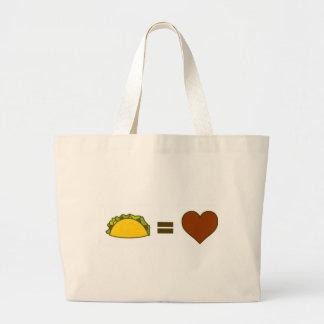 Bolsa Tote Grande Taco=Love