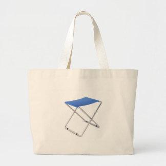 Bolsa Tote Grande Tamborete de dobramento azul