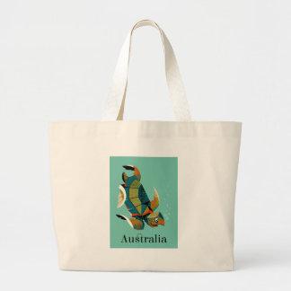 Bolsa Tote Grande Tartaruga de mar australiana animador