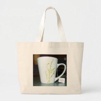 Bolsa Tote Grande Tenha um chá de O do copo!