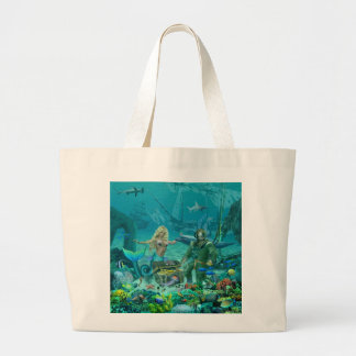 Bolsa Tote Grande Tesouro do recife de corais da sereia