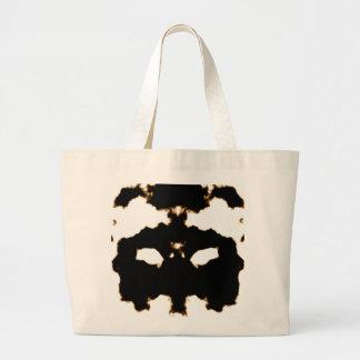 Bolsa Tote Grande Teste de Rorschach de um cartão da mancha da tinta