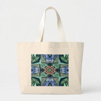 Bolsa Tote Grande Teste padrão artístico do pêssego moderno do Lilac