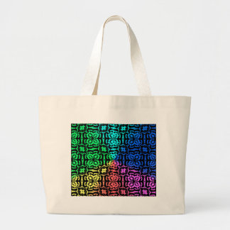 Bolsa Tote Grande Teste padrão e formas coloridos rústicos