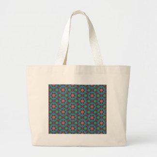 Bolsa Tote Grande teste padrão geométrico islâmico