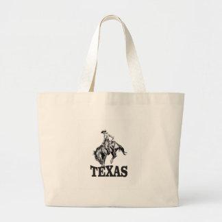 Bolsa Tote Grande Texas preto