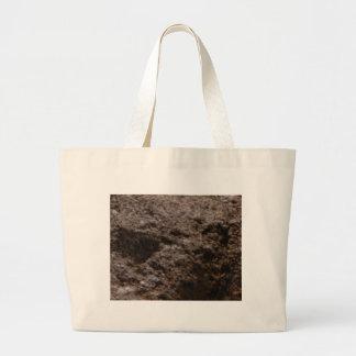 Bolsa Tote Grande textura pitted da rocha