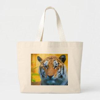 Bolsa Tote Grande Tigre no bambu - pintura