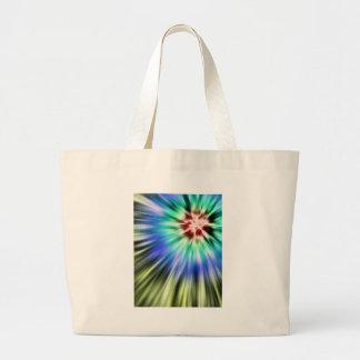 Bolsa Tote Grande Tintura colorida do laço de Starburst