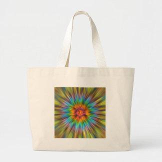 Bolsa Tote Grande Tintura colorida Starburst do laço