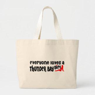 Bolsa Tote Grande Todos ama uma menina de Thunder Bay