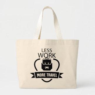 Bolsa Tote Grande trabalho menos viagem mais artigos do tema