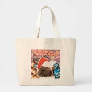 Bolsa Tote Grande Tudo que eu quero para o Natal é você