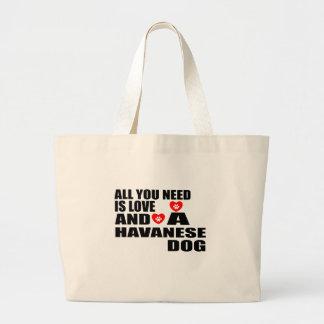 Bolsa Tote Grande Tudo você precisa o design dos cães do amor