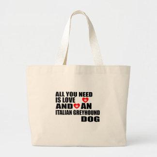 Bolsa Tote Grande Tudo você precisa o design dos cães do GALGO