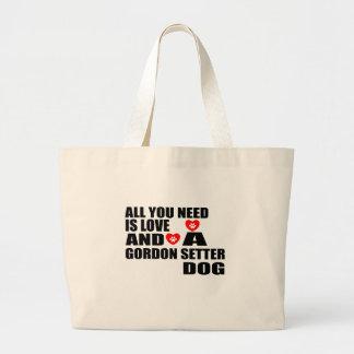 Bolsa Tote Grande Tudo você precisa o design dos cães do SETTER de