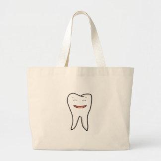 Bolsa Tote Grande Um dente muito feliz