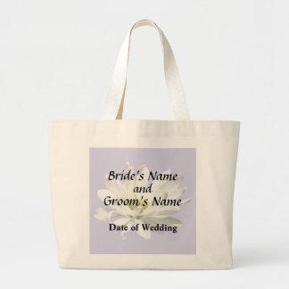Bolsa Tote Grande Únicos produtos do casamento da margarida branca