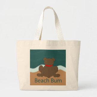 Bolsa Tote Grande Urso do vagabundo da praia