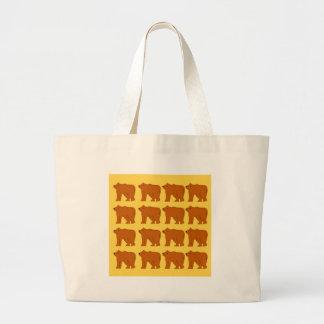 Bolsa Tote Grande Ursos polares no ouro