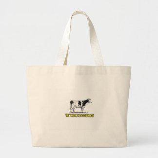 Bolsa Tote Grande Vaca de leiteria de Wisconsin