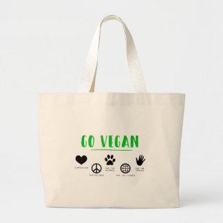 Bolsa Tote Grande Vai o Vegan