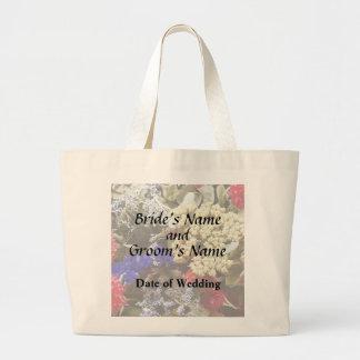 Bolsa Tote Grande Variedade das flores secadas que Wedding fontes