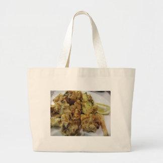 Bolsa Tote Grande Vegetais crocantes panados e fritados com limão