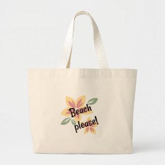 Bolsa Tote Grande Verão floral - praia por favor