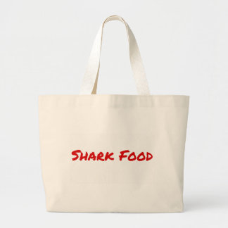 Bolsa Tote Grande Vermelho da comida do tubarão