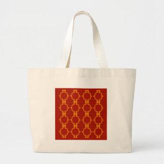 Bolsa Tote Grande Vermelho do ouro dos elementos do design