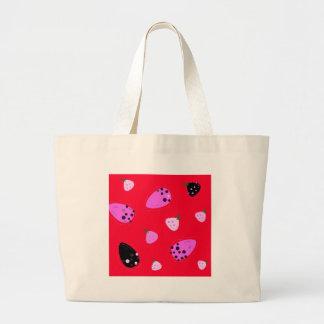 Bolsa Tote Grande Vermelho selvagem dos figos do design