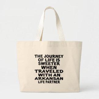 Bolsa Tote Grande Viajado com um sócio da vida do Arkansan