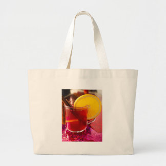 Bolsa Tote Grande Vinho mulled fruta com canela e laranja