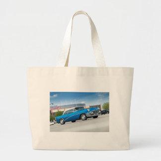 Bolsa Tote Grande Vintage clássico azul do carro velho do Special