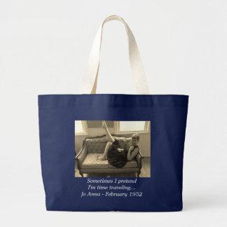 Bolsa Tote Grande Vintage - sacola de viagem do tempo