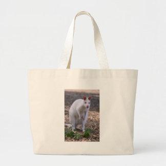 Bolsa Tote Grande Wallaby de pescoço encarnado do albino
