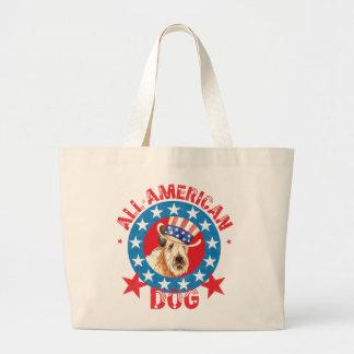 Bolsa Tote Grande Wheaten patriótico